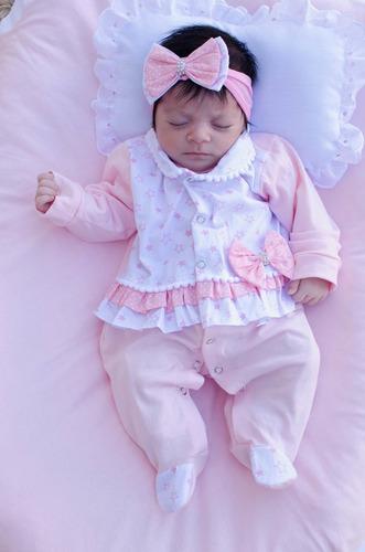 Saída De Maternidade Menina Duda Cor 6 Nova 4 Peças