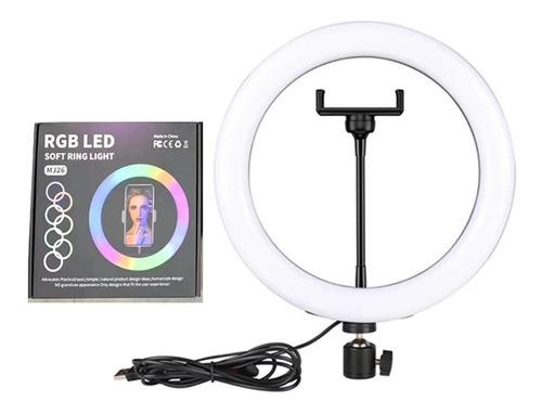 Ring Light Iluminador Rgb 20cm 8 Polegadas+mini Tripe