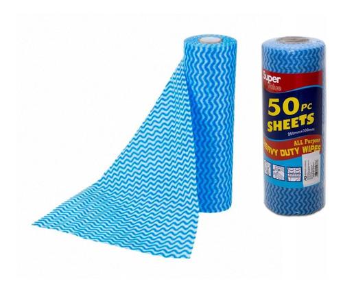 Pano Multiuso Limpeza Tipo Perfex Bobina C/ 50 Panos 30x25