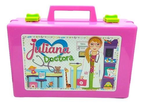 Valija Juliana Doctora Grande Con Accesorios, Luz Y Sonido