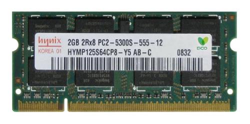 Memória Ram  2gb 1x2gb Sk Hynix Hymp125s64cp8-y5
