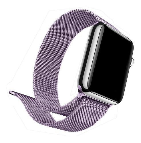 Pulseira De Aço Milanese Compatível Com Apple Watch E Iwo
