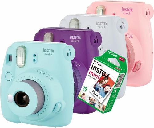 Câmera Instantânea Tipo Polaroid Instax Mini 9 +10 Filmes Nf