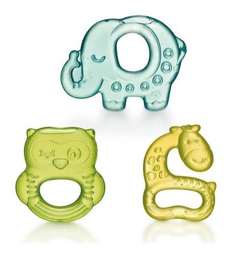 Kit Mordedor Infantil Bebê Zoo Resfriável C Água Multikids