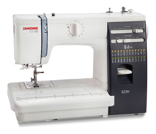Máquina De Coser Semi Industrial Janome Alta Gama 523h  Blanca Y Negra 220v
