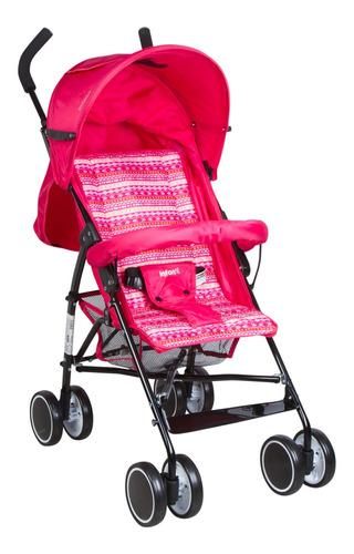 Cochecito De Bebé Infanti Twister Paragüitas Rosa Con Chasis Negro