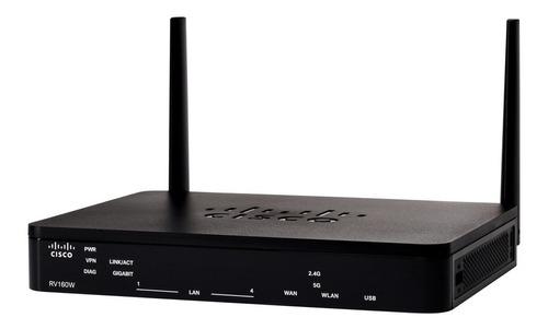 Router Cisco Rv160w-a-k9-ar Negro 220v