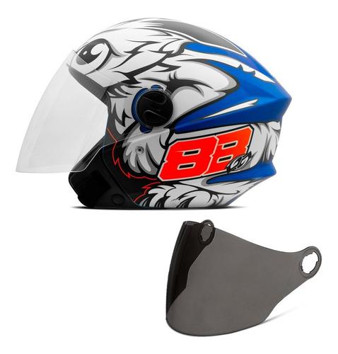 Capacete Moto Masculino Pro Tork New 3 Gp 88 Viseira Fumê