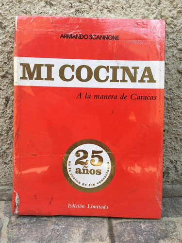 Armando Scannone Mi Cocina Libro Rojo Tapa Dura Nuevo