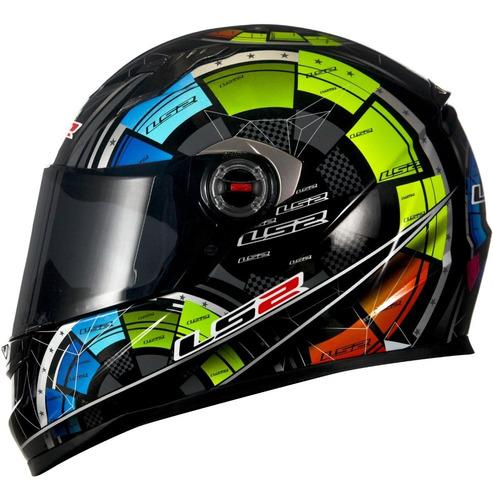 Capacete Moto Fechado Ls2 Ff358 Classic Tech Original