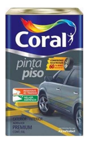 Tinta Pinta Piso 18 Litros Emborrachada Coral Escolha Cor.