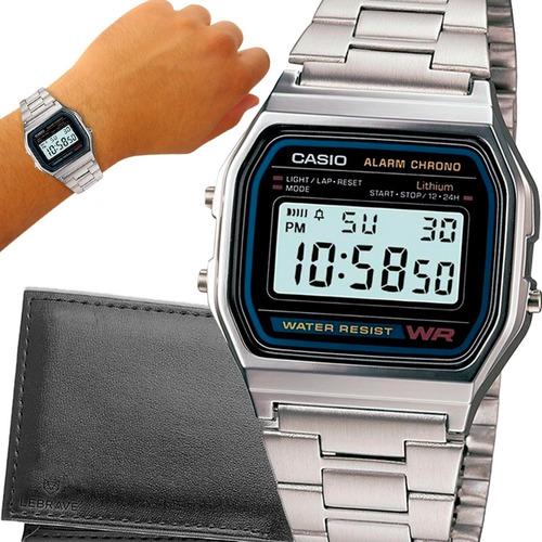 Relógio Casio Prata Vintage Digital Original Prova D'água