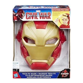 Iron Man Mascara Marvel Civil War Con Luz Y Sonido B5784 Ful