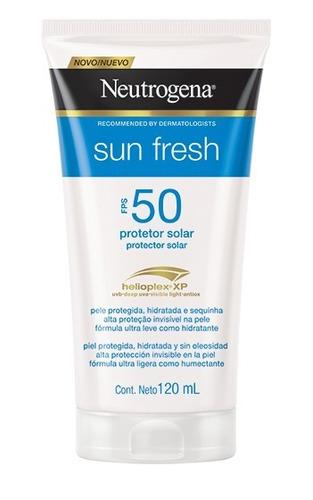 Protetor Solar Neutrogena Sun Fresh  Fps50 120 Ml