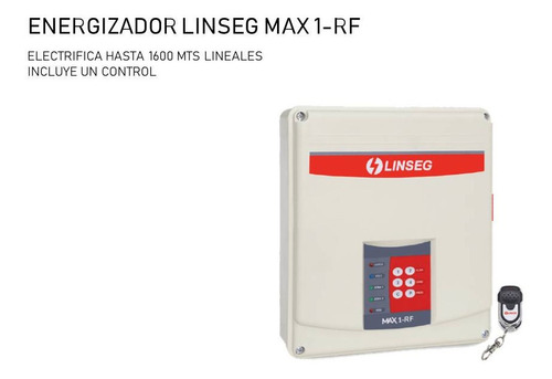Energizador Linseg Max 1-rf Para 1600 Mts