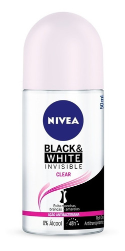 Desodorante Roll On Nivea Black & White Clear 50ml