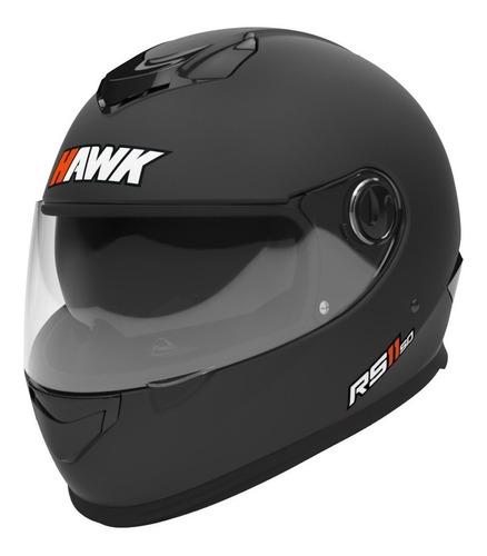 Casco Para Moto Integral Hawk Rs11 Negro Mate Talle Xl