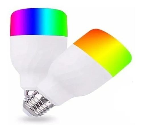 Lampada Inteligente Rgb Wifi Smart Google Alexa Colorida