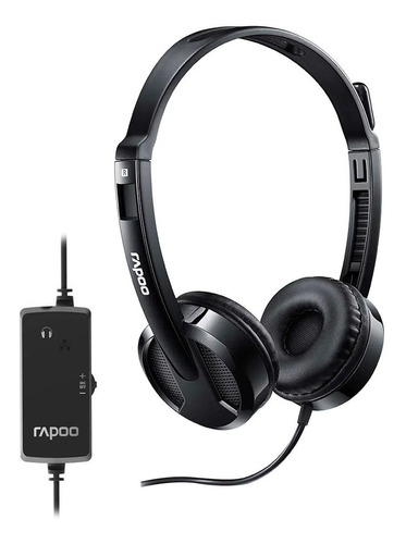 Fone Headset Rapoo Multilaser Usb H120 C/ Microfone Pc Note