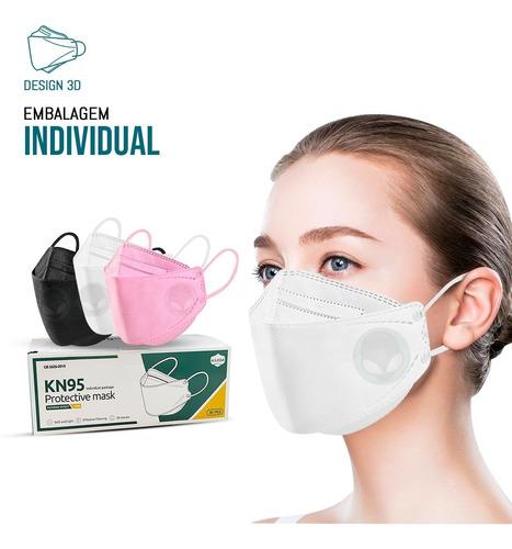 Kit 10 Máscaras Kf94 Proteção Meltblown Kn95 Reutilizável
