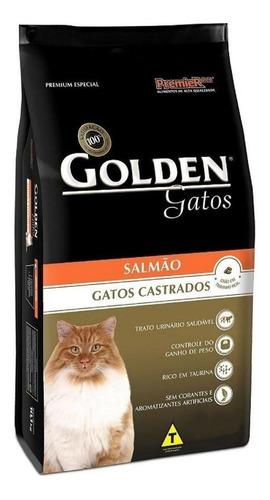 Ração Golden Premium Especial Castrados Para Gato Adulto Sabor  Salmão Em  Saco De 3kg
