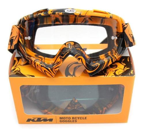 Óculos Ktm Motocross Off Road Enduro Lente Azul Ou Amarelo