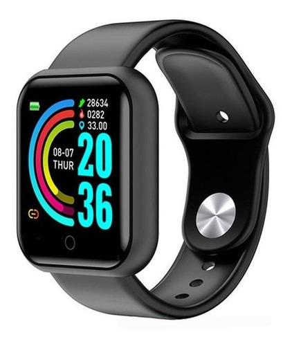 Smartwatch D20 Relógio Inteligente Preto