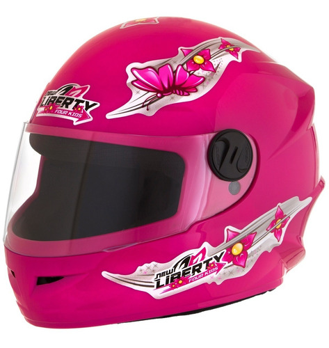 Capacete De Moto Infantil Pro Tork Liberty Four Girls Rosa