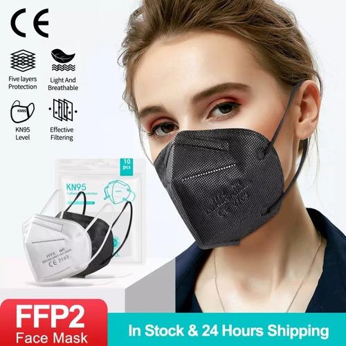 30 Máscaras Kn95 Proteção 5 Camada Respiratória Pff2 N95
