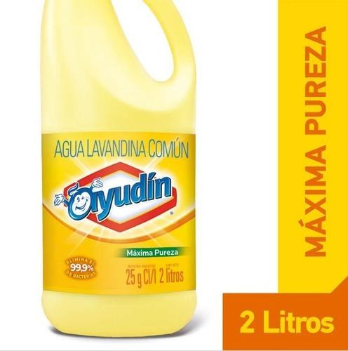 Lavandina Ayudin Maxima Pureza X 2 Lts Caja X 8 Unidades