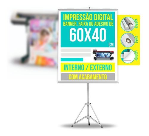 Banner Personalizado Completo Até 0,5m2 50x25cm Ou 60x40 Etc