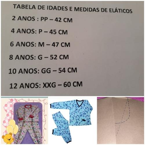 Kit Molde Pijama Infantil - Tamanho Real Em Papel Kraft