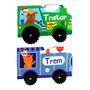 Livros Infantis Veículos Geniais   Trator E Trem