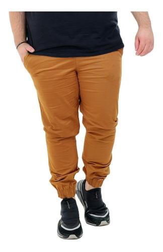 Calça Jogger Sarja Colorida Jeans Masculina Plus Size G1g2g3