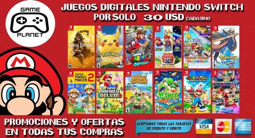 Juegos Digitales - Nintendo Switch Desde 15usd Originales
