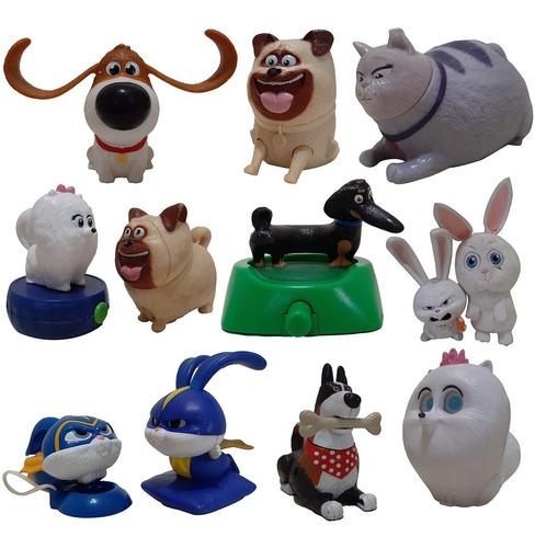 La Vida Secreta De Tus Mascotas Muñecos X12 Mc Donald's 9 Cm