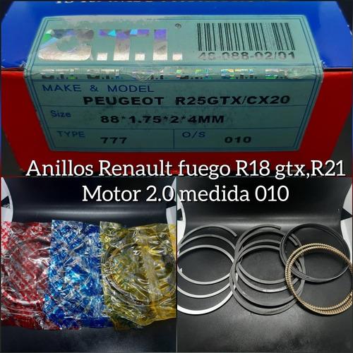 Anillos 010 Renault Fuego 18gtx2.0 21 2.0 88x1.75x2x4