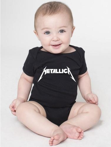 Body Bandas De Rock Metallica Roupas Bebê Menino Menina