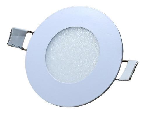 Luz Led Spot Redondo De Embutir Marco Metal Blanco