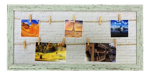 Porta Retrato Decorativo Parede Com 10 Prendedores 60x30cm