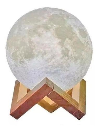 Umidificador Aromatizador Luminária Abajur Lua 3d 880ml