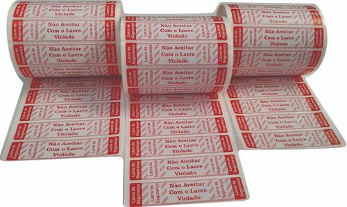 Etiqueta Lacre Pizza, Ifood E Delivery 1.000 Unidades