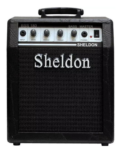 Amplificador Sheldon Bass Master Bss180 Combo 18w Preto 110v/220v