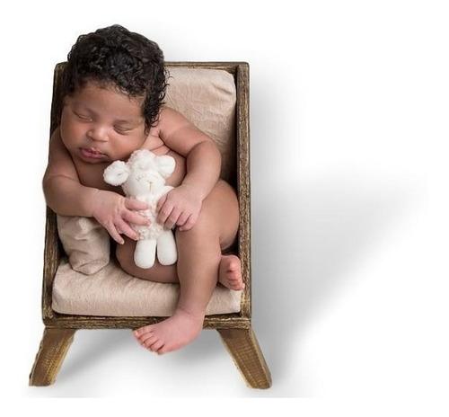 Poltrona Megs Mogno 005 Posicionadora Newborn Sofá Props