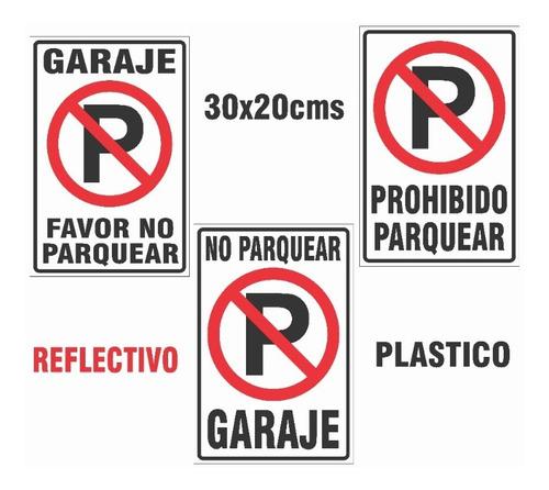 Señalización Avisos Letrero Plástico Prohibido Parquear