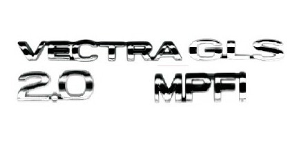 Kit Emblemas Vectra 2.0 Gls Mpfi 96 Em Diante + Brinde Original