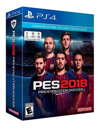 Playstation 4 Juego Pes 2018 Legendary Edition Sellado