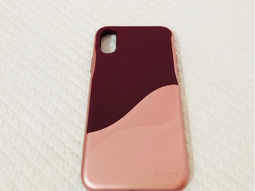 Funda iPhone X Ringke Tinto Y Oro Rosado Plástico Hybrido