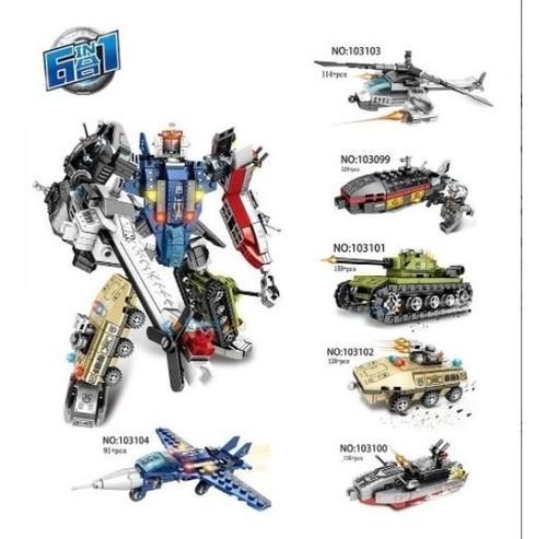 Blocos Montar Transformers Lego Tanque Guerra 730 Peças
