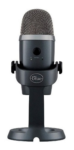 Microfone Blue Yeti Nano Cinza Usb Condensador